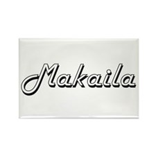 Makaila Classic Retro Name Design Magnets