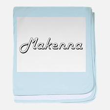 Makenna Classic Retro Name Design baby blanket