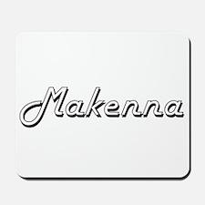 Makenna Classic Retro Name Design Mousepad