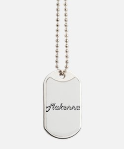Makenna Classic Retro Name Design Dog Tags