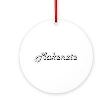 Makenzie Classic Retro Name Desig Ornament (Round)