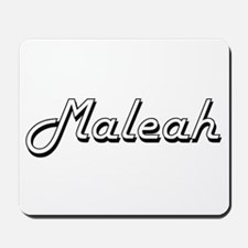 Maleah Classic Retro Name Design Mousepad