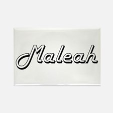 Maleah Classic Retro Name Design Magnets