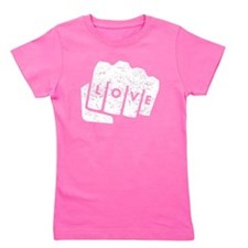 Love Knuckle Tattoo (Distressed) Girl's Tee