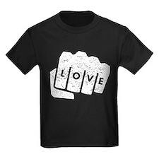 Love Knuckle Tattoo (Distressed) T-Shirt