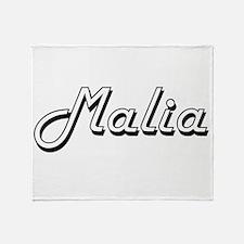 Malia Classic Retro Name Design Throw Blanket