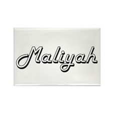 Maliyah Classic Retro Name Design Magnets