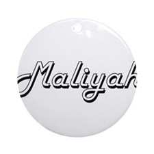 Maliyah Classic Retro Name Design Ornament (Round)