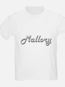 Mallory Classic Retro Name Design T-Shirt