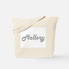 Mallory Classic Retro Name Design Tote Bag