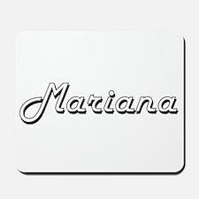 Mariana Classic Retro Name Design Mousepad