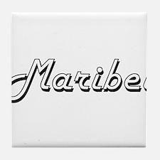 Maribel Classic Retro Name Design Tile Coaster
