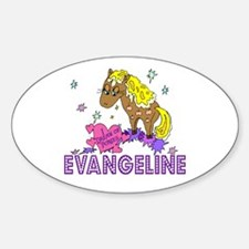 I Dream Of Ponies Evangeline Oval Decal