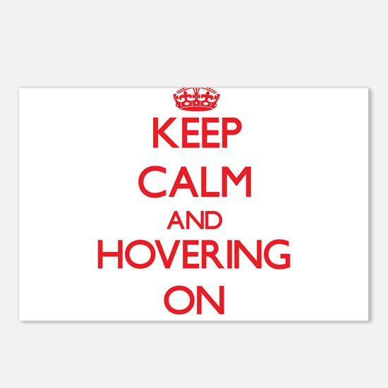 Keep Calm and Hovering ON Postcards (Package of 8)