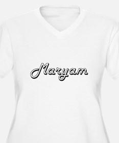Maryam Classic Retro Name Design Plus Size T-Shirt