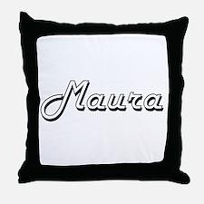 Maura Classic Retro Name Design Throw Pillow