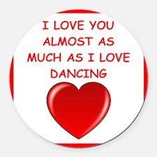 dancing Round Car Magnet