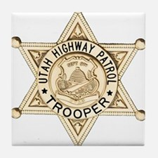Utah Highway Patrol Tile Coaster