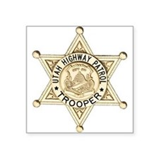 "Utah Highway Patrol Square Sticker 3"" x 3"""