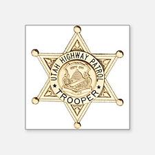 "Utah Highway Patrol Square Sticker 3"" x 3"""