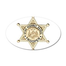 Utah Highway Patrol 20x12 Oval Wall Decal