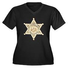 Utah Highway Women's Plus Size V-Neck Dark T-Shirt
