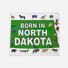 NORTH DAKOTA BORN Throw Blanket