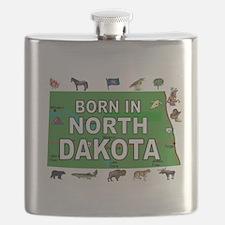 NORTH DAKOTA BORN Flask