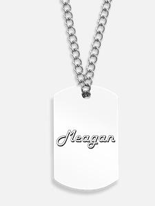 Meagan Classic Retro Name Design Dog Tags