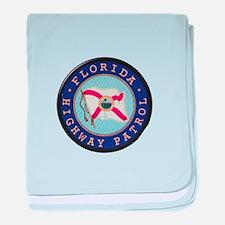 Florida Highway Patrol baby blanket