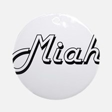 Miah Classic Retro Name Design Ornament (Round)