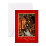 Collie xmas Greeting Cards (10 Pack)