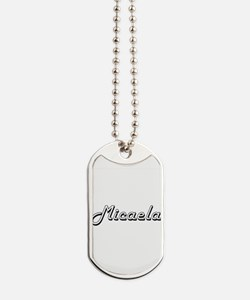 Micaela Classic Retro Name Design Dog Tags