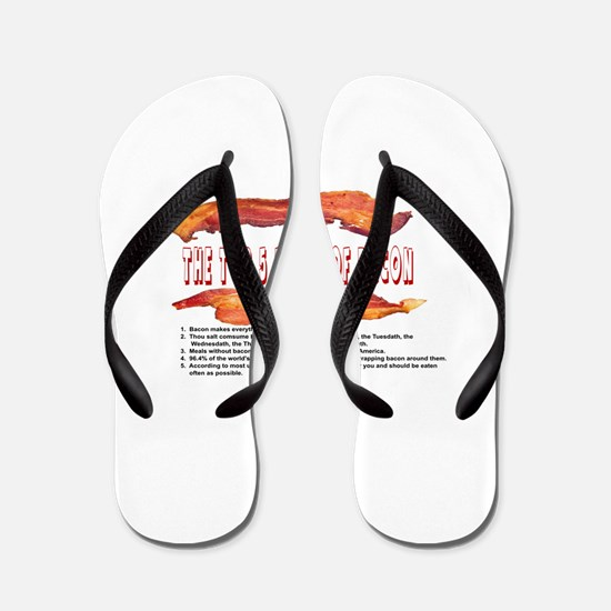 THE TOP 5 RULES OF BACON Flip Flops