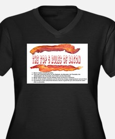 THE TOP 5 RULES OF BACON Plus Size T-Shirt