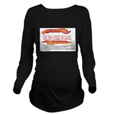 THE TOP 5 RULES OF BACON Long Sleeve Maternity T-S