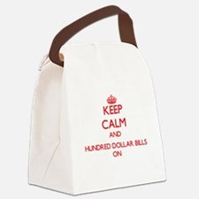 Keep Calm and Hundred Dollar Bill Canvas Lunch Bag