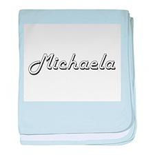 Michaela Classic Retro Name Design baby blanket