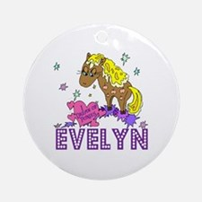 I Dream Of Ponies Evelyn Ornament (Round)