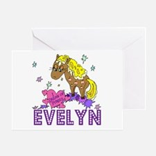 I Dream Of Ponies Evelyn Greeting Card