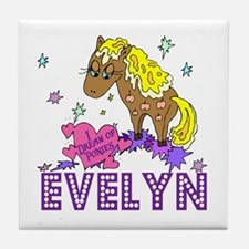I Dream Of Ponies Evelyn Tile Coaster