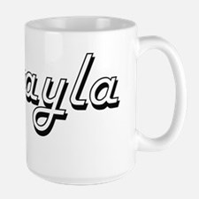 Mikayla Classic Retro Name Design Mugs
