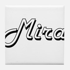 Mira Classic Retro Name Design Tile Coaster