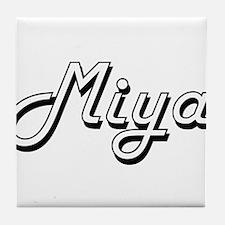 Miya Classic Retro Name Design Tile Coaster