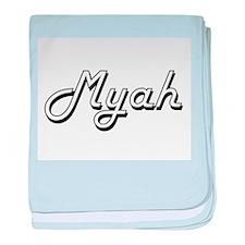 Myah Classic Retro Name Design baby blanket