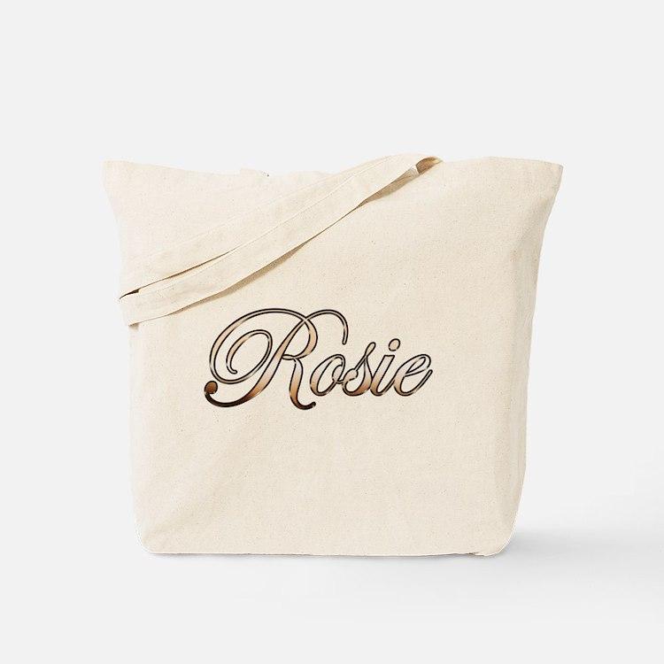 Gold Rosie Tote Bag