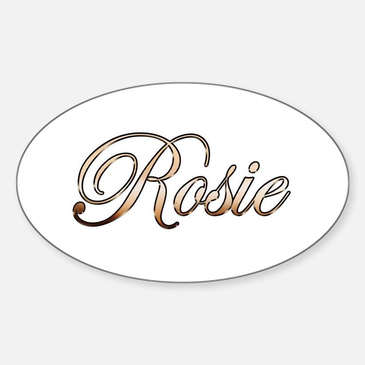 Gold Rosie Decal