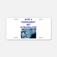radiologist Aluminum License Plate