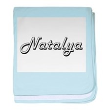 Natalya Classic Retro Name Design baby blanket