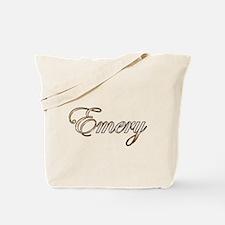Gold Emery Tote Bag
